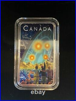 2019 CANADA $20 SHAG HARBOUR Glow-in-the-Dark 1oz Proof Silver UFO Coin #2