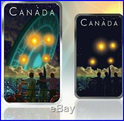 2019 CANADA $20 SHAG HARBOUR UFO Glow-in-the-Dark 1oz Proof Silver Coin