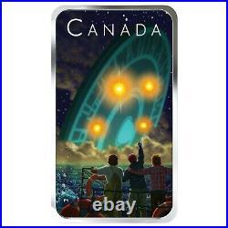 2019 Canada $20 Shag Harbour UFO Glow-in-the-Dark 1 oz. 9999 Silver Coin Bar
