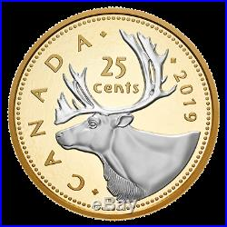 2019 Canada 25 Cent Big Coin 5 Oz. Pure Silver Proof Coin Only with COA