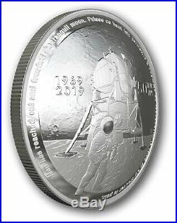 2019 Canada Apollo 11 50th anniversary $25 pure silver coin convex coin