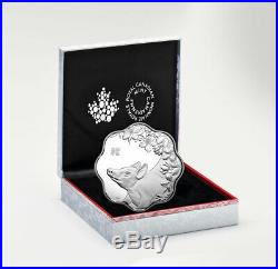 2019 Canada Year of Pig Silver Lunar Proof $15 Lotus Shaped Coin OGP SKU55159