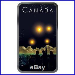 2019 Canada's Ufo Shag Harbor Unexplained Phenomena 20$ Glow In Dark Silver Coin