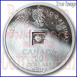2019 FIRE AND ICE Canadian dancing diamond Sparkle of Heart $20 Pure Silver Coin