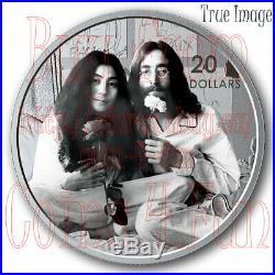 2019 Give Peace a Chance John Lennon Yoko Ono $20 Pure Silver Proof Coin Canada