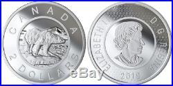 2019 Multilayered Polar Bear R&D Toonie $2 3.5OZ Silver Coin Canada Mintage279