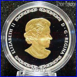 2019 Norse Gods #1 Thor $20 1 OZ Proof Pure Silver Gold-Plated Coin Canada
