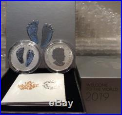 2019 Premium Baby Welcome to World Pure Silver $10 1/2OZ Coin Canada Baby Feet