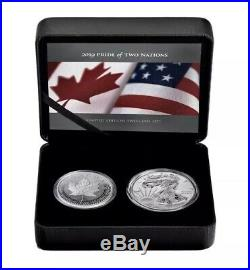 2019 Pride of Two Nations, Canadian Limited Edition-Pure Proof Silver 2-coin set
