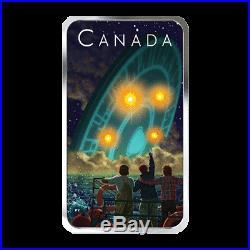 2019 UFO Shag Harbour Incident Unexplained Phenomena $20 Silver Glow-Dark Coin