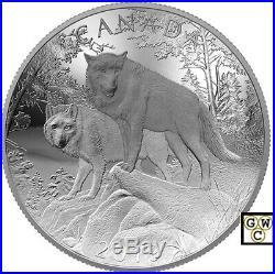 2019'Wolves-Nature's Grandeur' Concave Proof $100 Fine Silver 10oz. Coin (18707)