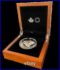 2020 2 oz. Canadian Pure Silver Coin R&D Lab Flying Loon Very Low Mintage 425