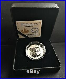 2020 Canada $25 MULTIFACETED ANIMAL HEADGRIZZLY BEAR SILVER COIN- Mintage 2,500
