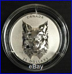 2020 Canada $25 MULTIFACETED ANIMAL HEADLYNX SILVER COIN