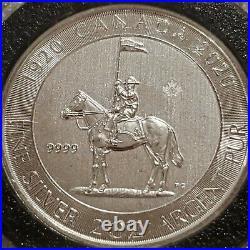 2020 Canada 2 oz. 9999 Silver Coin $10 Royal Canadian Mounted Police RCMP 100YR