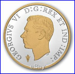 2020 Canada 75th anniv of VE-day dollar gold plated silver coin only