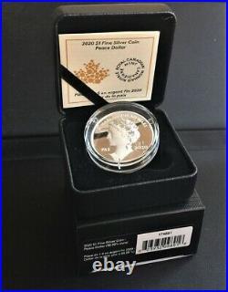 2020 Canada Peace Dollar Ultra High Relief 1$ 99.99% Pure Silver Coin