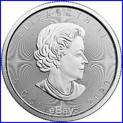 2020 Canada Silver Maple Leaf 1oz BU Coin 5 Piece Lot in Flips