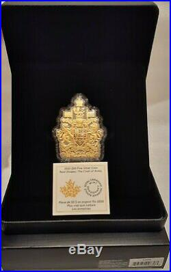 2020 Coat of Arms Real Shapes Silhouette $50 3.2OZ Pure Silver Proof Coin Canada