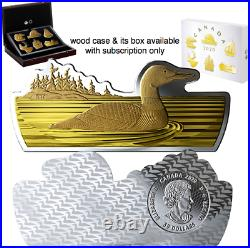 2020 Common Loon Real Shapes Silhouette $50 3.2OZ Pure Silver Proof Coin Canada