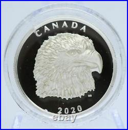 2020 Proud Bald Eagle Extra High Relief Head $25 1 OZ Silver Proof Coin Canada