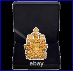 2020 Real Shapes #5 Coat of Arms $50 3 OZ Pure Silver Proof Coin Canada