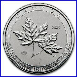 2020 Royal Canadian Mint Twin Maples 2 oz Silver Maple Leaf $10 Coin. 9999 Fine