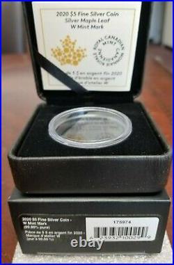 2020-W Canada Burnished Silver Maple Leaf Coin $5 1OZ Winnipeg NGC MS70