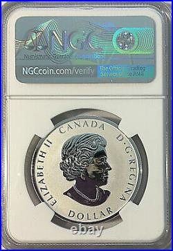 2021 Canada $1 PEACE DOLLAR UHR NGC REVERSE PROOF 70 FDI Taylor Signed