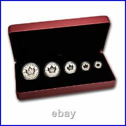2021 Canada 5-Coin Silver Pulsating Maple Leaf Fractional Set SKU#218458