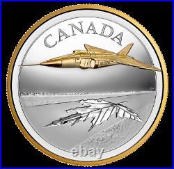 2021 The Avro Arrow 5 oz Pure Silver Proof Coin CANADA RCM 5oz