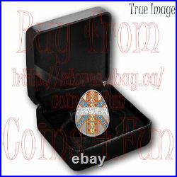 2021 Traditional Ukrainian Pysanka $20 Silver Egg-Shaped Coin Canada