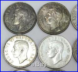 20x 1949 Canada silver dollars all nice 20 coins EF-UNC