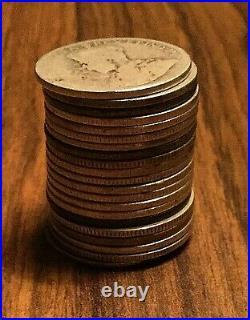 21 CANADA SILVER 25 CENTS COIN Silver invest All coins Dateless 21 coins