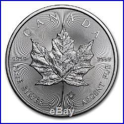 25 COIN ROLL 2017 1 OUNCE SILVER CANADIAN MAPLE LEAF COINS. 9999 1oz