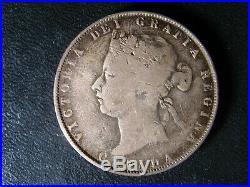 50 cents 1872H Canada Queen Victoria silver coin c ¢ half dollar VG-10