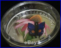 5 Canada MURANO VENETIAN GLASS SILVER Coins LADYBUG + ALL other FAUNA & FLORA