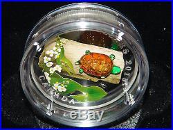6 Canada Murano Venetian Glass Silver Coins Ladybug + All Fauna & Flora +bonus