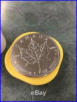 6 x 2013 Canada Maple Leaf 1oz Fine Silver $5 Five Dollar Coins