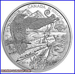 CANADA 2014 $50 FINE SILVER COIN 5 oz. ABORIGINAL-THE LEGEND OF THE SPIRIT BEAR