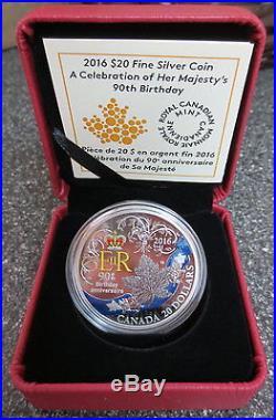 Canada 2016 20 1oz Fine Silver Coin Queen Elizabeth Ii