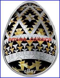 CANADA 2019 Vegreville Ukrainian Pysanka Silver Egg Shaped Coin