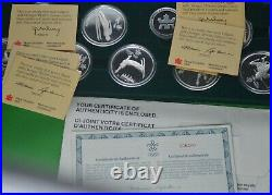 Calgary Olympics Proof Sterling Silver 10 Coin Set Set RCM