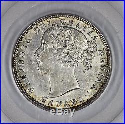 Canada 1858 Silver 20 Cent Coin PCGS AU55