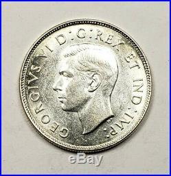 Canada 1947 Maple Leaf Silver 50 Cents Half Dollar Coin