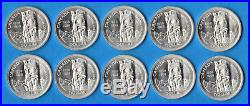 Canada 1958 $1 One Dollar Silver Coin Lot of 10 Choice Uncirculated