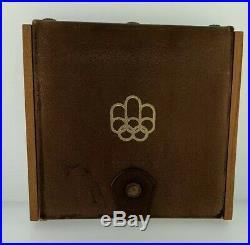 Canada 1976 Olympics 4 Coin Proof Set Box & COA 4.32 Ozs Silver