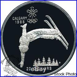 Canada 1985 1988 20 Calgary Olympic Silver 10 Coin Set