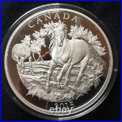 Canada 1/2 Kilo 9999 Silver Proof Coin Canadian Horse Mintage1,000