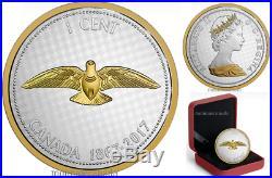 Canada 1 Cent 5 oz. Pure Silver Coin Big Series Alex Colville Designs2017